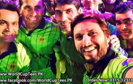 Cricket World Cup 2015 Pakistan Team Shirt