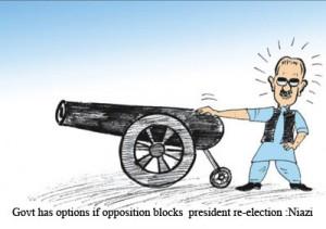 Govt has option if opposition blocks president re-election - Niazi