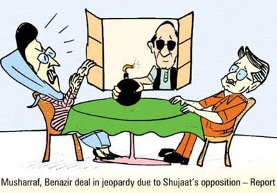 Musharaf - Benazir deal in jeopardy due to Shaujaat Opposition