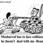 Musharaf has to face collision if he doesn't deal with me - Benazir