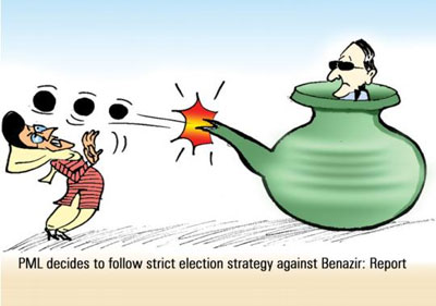 PML decides to follow strict election strategy against Benazir