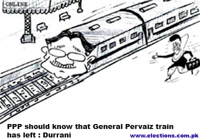 PPP should know that General Pervaiz train has left -Durrani