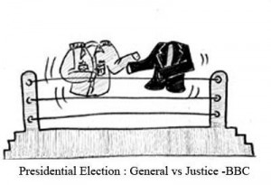 President Election - General vs Justice BBC