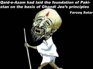 Qaid-e-Azam had laid the foundation of Pakistan on the basis of Ghandi Jee's principles- Farooq Satar