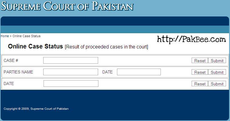 Supreme Court Online Portal Main