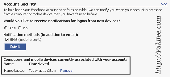 Get Notified When Someone Login To Your Facebook via SMS or